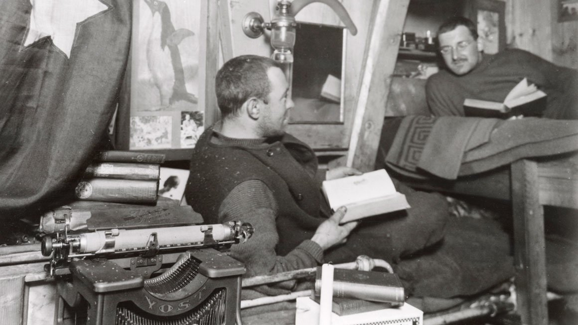 Frank Hurley and Alexander Macklin (right) at home on the 'Endurance' (S0000142)