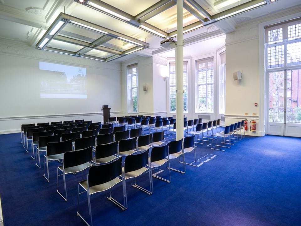 Photo of the Education Centre lecture set up in theatre style