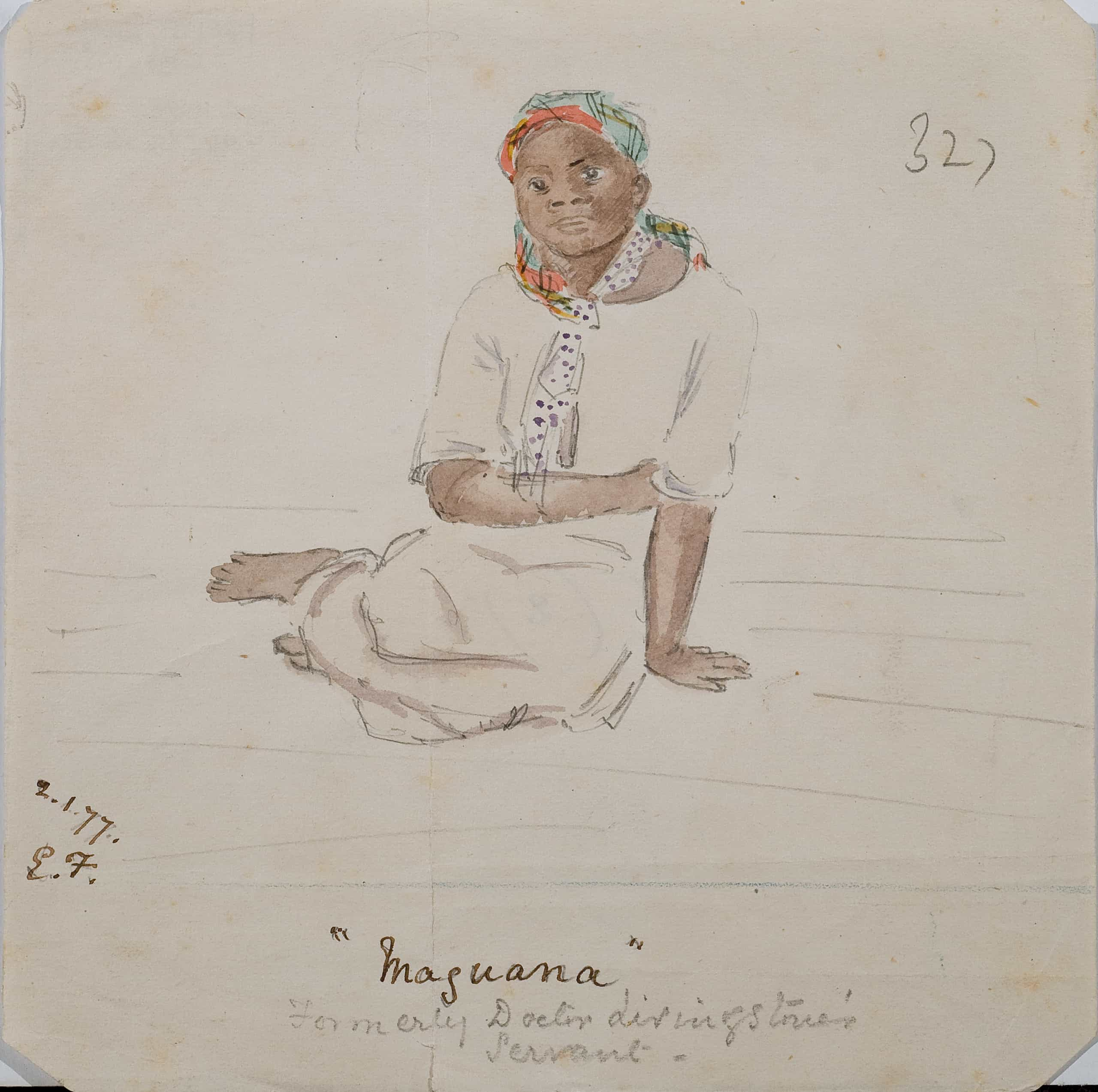 Maguana - formerly David Livingstone's servant Lilly Frere, RGS Images Online, 21/01/1877.