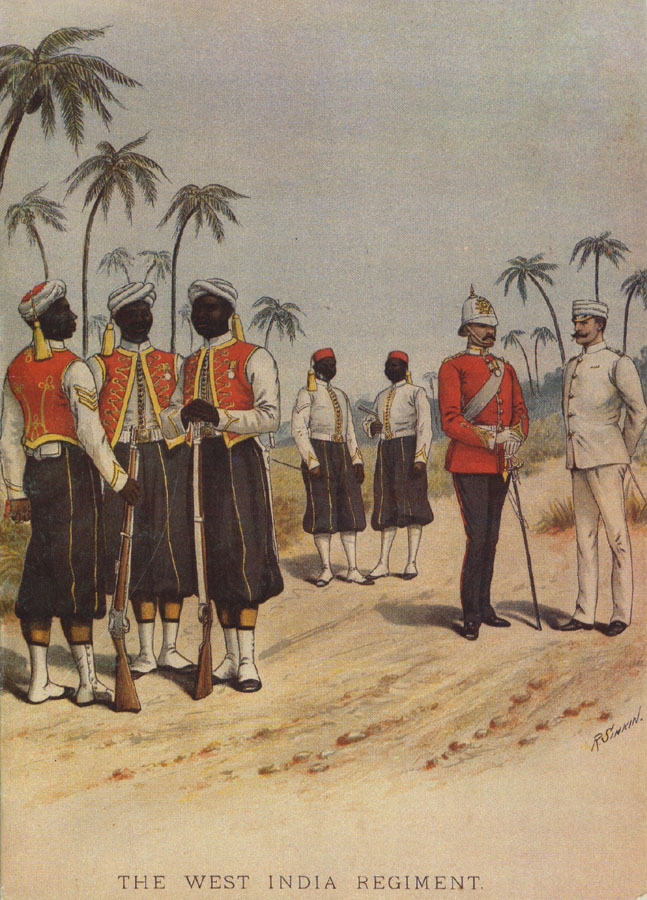 The West India Regiment' (1871), Barbados Museum and Historical Society.