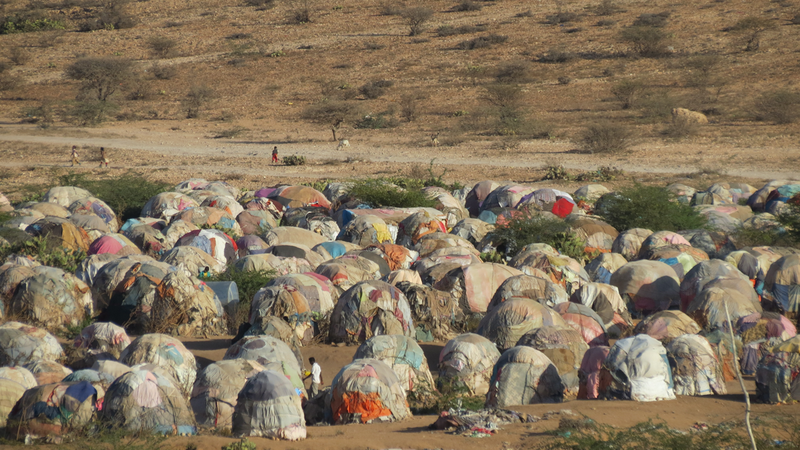 Shelters are made of cloth, plastic and anything else residents can find, Camp A, Hargeisa. Image byy Laura Hammond